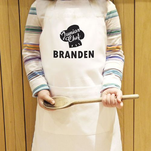 Personalised Junior Chef Kids Apron